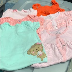 Lot of 6 Carter Onsies Size 18 months